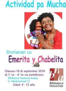 Actividad pa mucha: Emerita y Chabelia @ Biblioteca Nacional Aruba