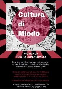 Curso Non-fiction writing (Activism) @ Biblioteca Nacional Aruba