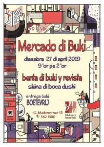 Entrega tur buki sin paga boet (Dia di Rey) @ Biblioteca Nacional Aruba