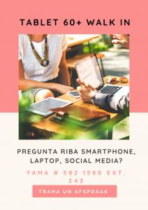 Tablet60+ walk in @ Biblioteca Nacional Aruba