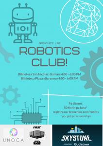 Robotics club na Makerspace @ Biblioteca Nacional Aruba