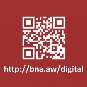 QR Code BNA Digital Collection. URL: http://bna.aw/digital