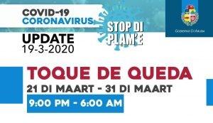 Library closed +Toque de queda / Curfew / Avondklok @ BNA all locations